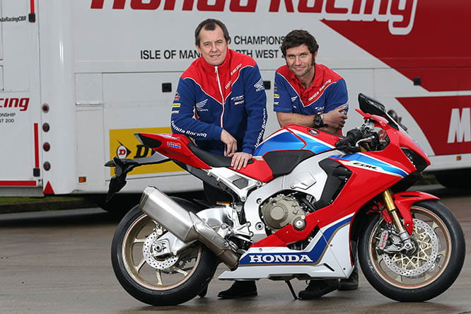 John McGuinness and Guy Martin sign for Honda Racing