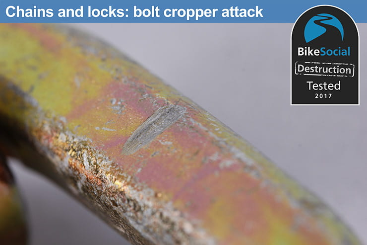 Abus Granit 58 Lock and Chain after a bolt cropper attack