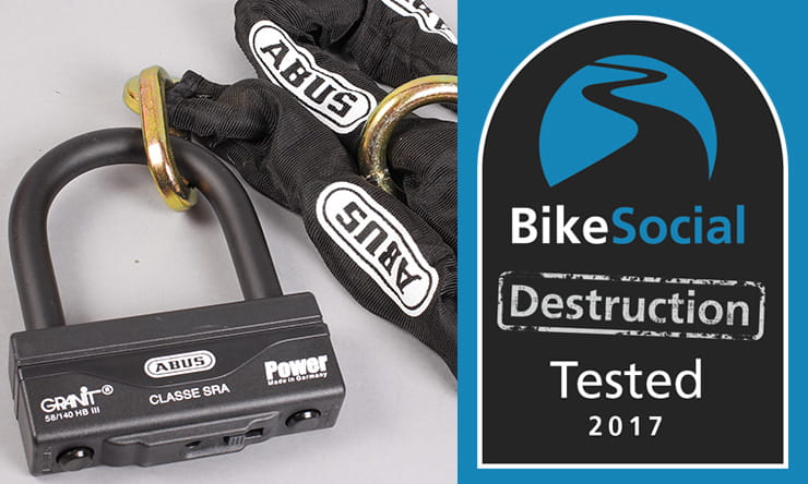 Abus Granit 58 Lock and Chain tested to destruction by BikeSocial