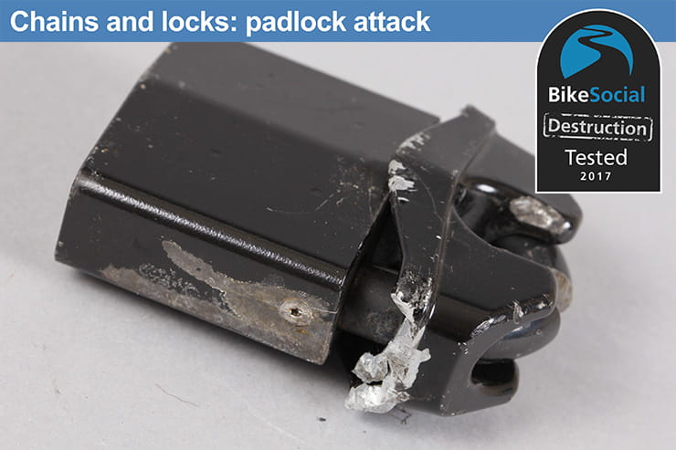 Abus Granit Power Chain 37 after padlock attack