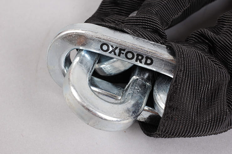 Oxford Hardcore XL chain and padlock chain link
