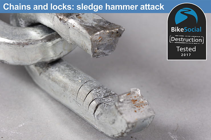 Tested: Pewag VKK 12x45 and Mul-T-Lock NE14L padlock review after a sledge hammer attack