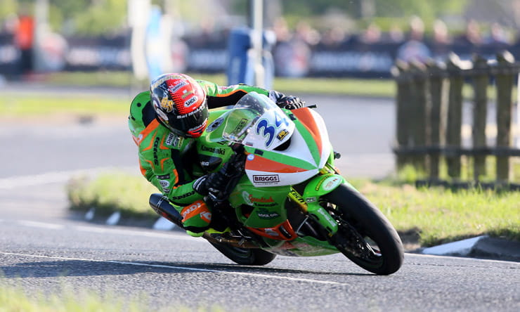 Alistair Seeley races at the North West 200 motorcycle races