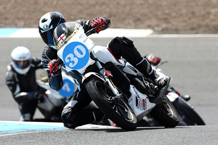 Pro-am race bikes at Knockhill