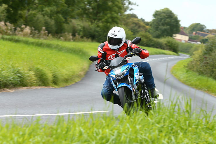 Suzuki GSX-S125ridden down a country road