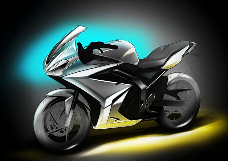 Triumph Daytona 250 design sketch