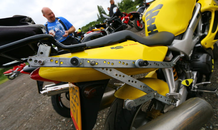 Honda VTR1000 FireStorm: 20th Anniversary Owners' Meet home made luggage rack