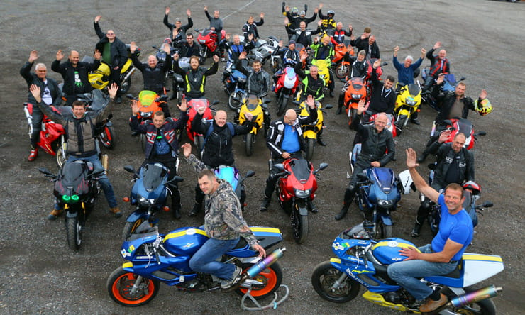 Honda VTR1000 FireStorm: 20th Anniversary Owners' Meet Group Photo