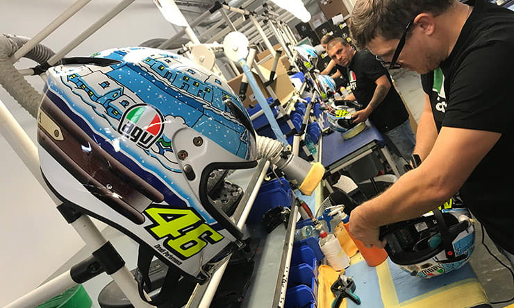 How is Valentino Rossi's AGV made? |BikeSocial