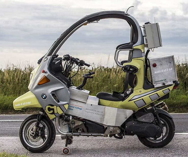 AutoRD self riding autonomous motorcycle