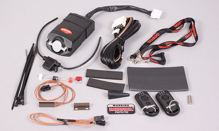 bikesocial workshop how to fit a motorcycle alarm immobiliser  datatool system 3 from a honda cbr600fx