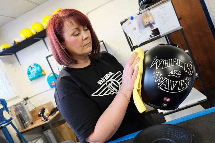 Inside the British motorcycle industry: Davida Helmets