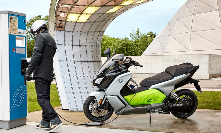 BMW electric scooter charging