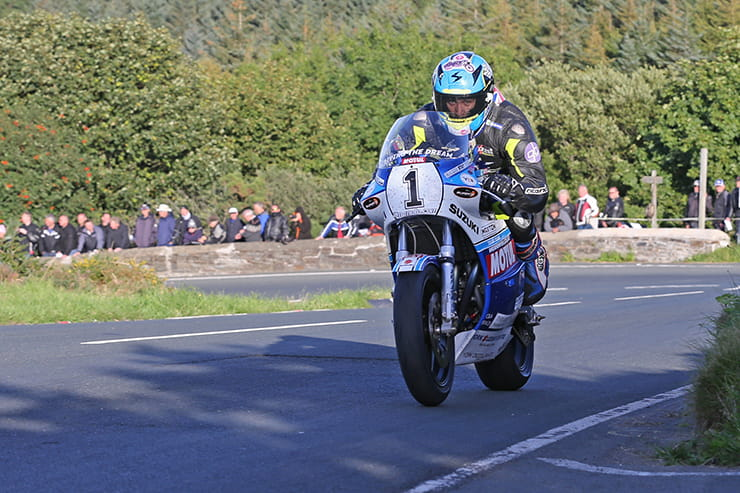 Dave Johnson at the classic TT