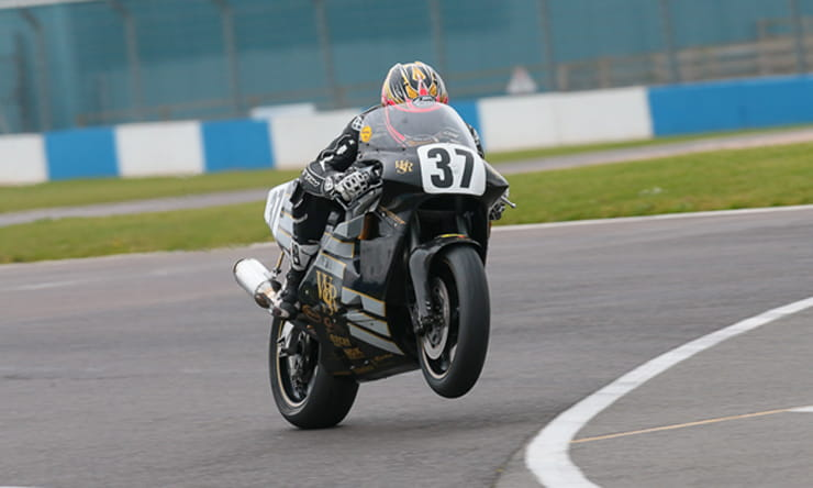 josh Brookes riding a JPS Norton