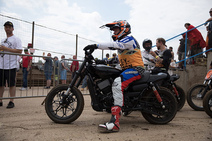 a bike waits to go out on track at Dirt Quake 2017