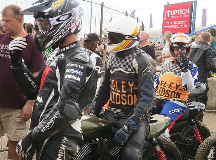 Riders look tired after a race at Dirt Quake 2017