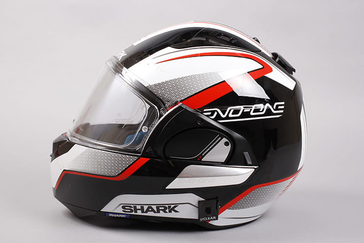 Evo-One motorcycle helmet side view visor closed