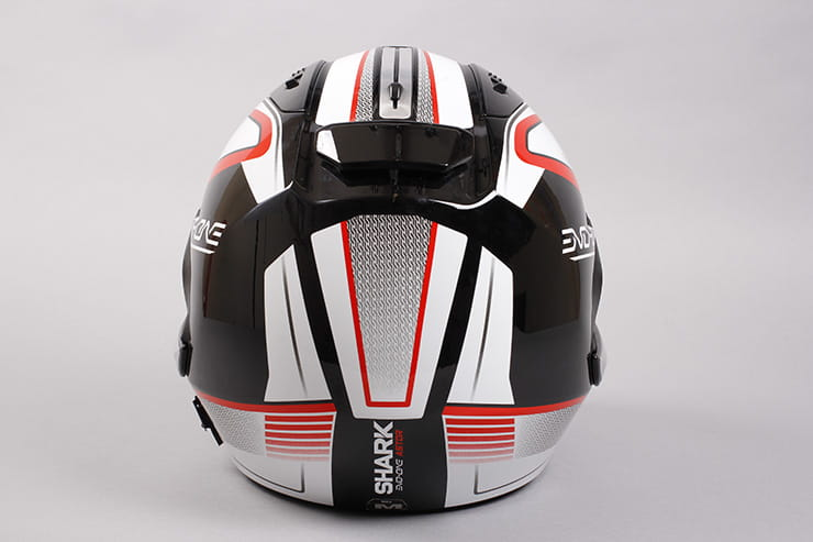 Evo-One motorcycle helmet rear view