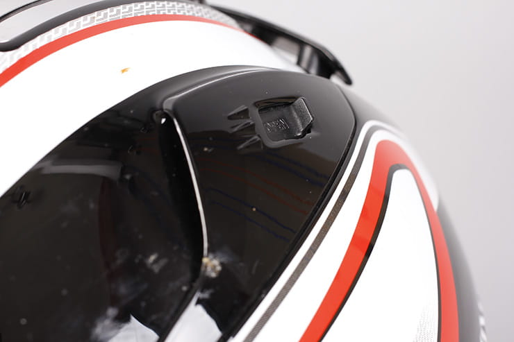 Evo-One motorcycle helmet rear ventilation vents