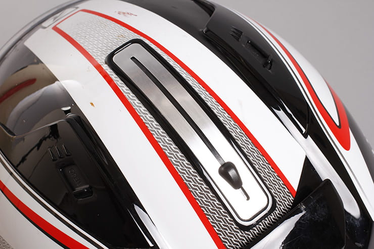 Evo-One motorcycle helmet sun visor mechanism