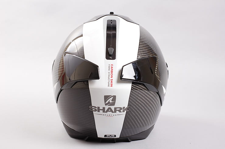Tested: Shark Spartan helmet review rear view