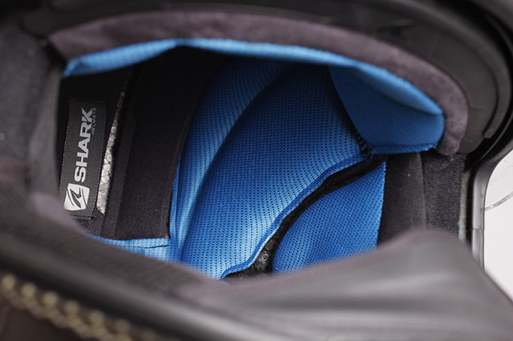 Tested: Shark Spartan helmet review interior lining