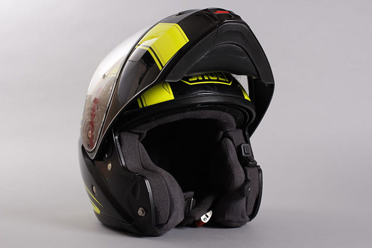 Shoei Neotec front flipped up