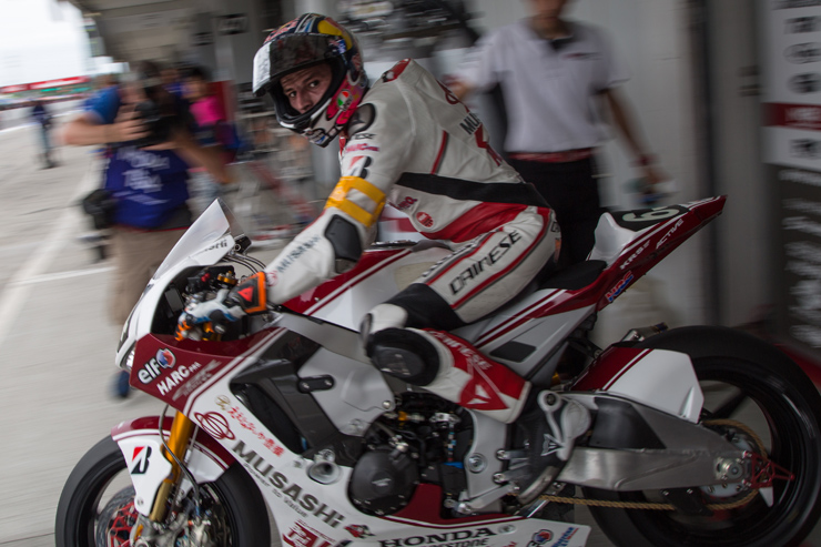 Jack Miller rides for Honda at the Suzuka 8 hours endurance race