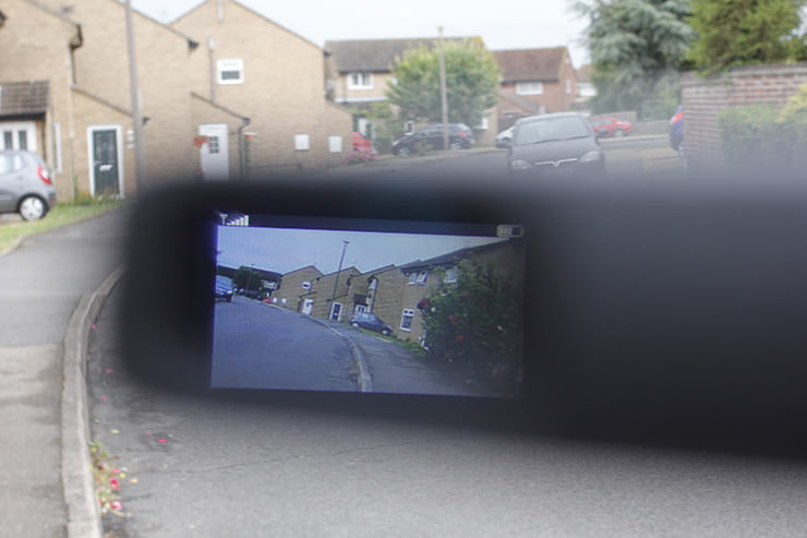 A riders eye view of the Zona rear view camera