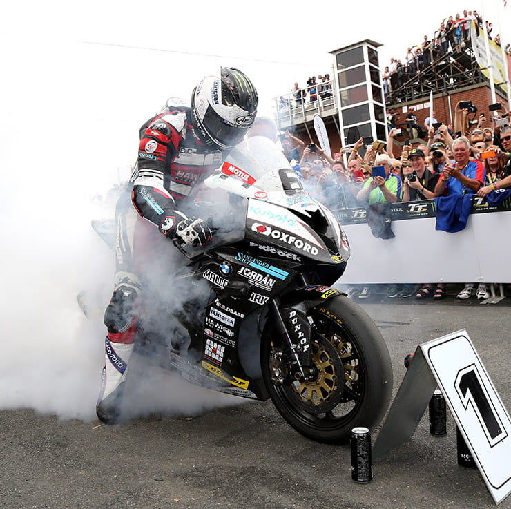 Michael Dunlop having just set the outright TT lap record in 2016
