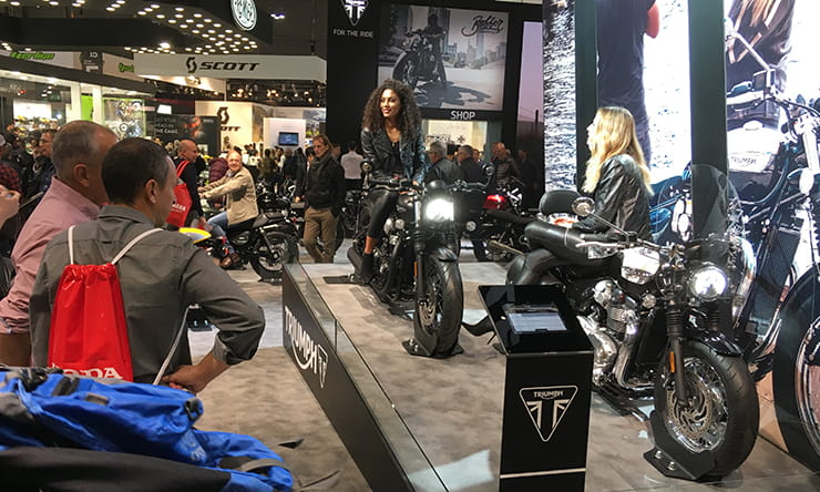 Triumph motorcycles stand EICMA