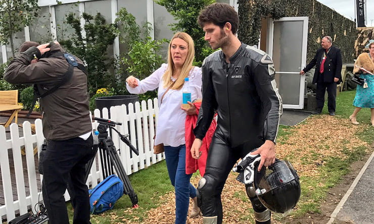 Guy Martin to race at Weston Beach Race and become a father…possibly today!