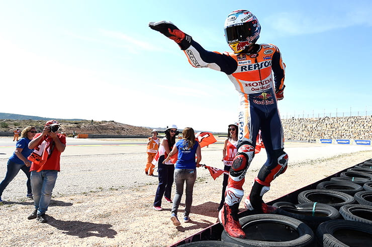 Marquez celebrated
