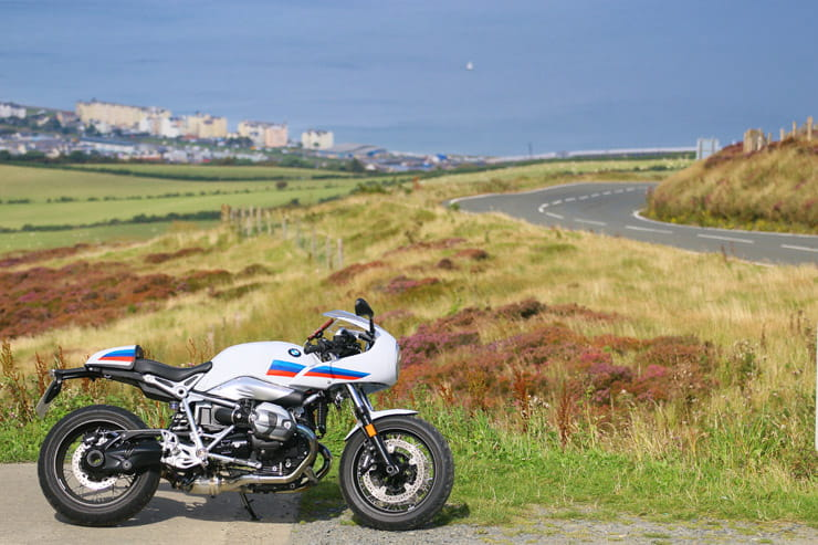 BMW 2017 R NineT Racer on the Isle of Man