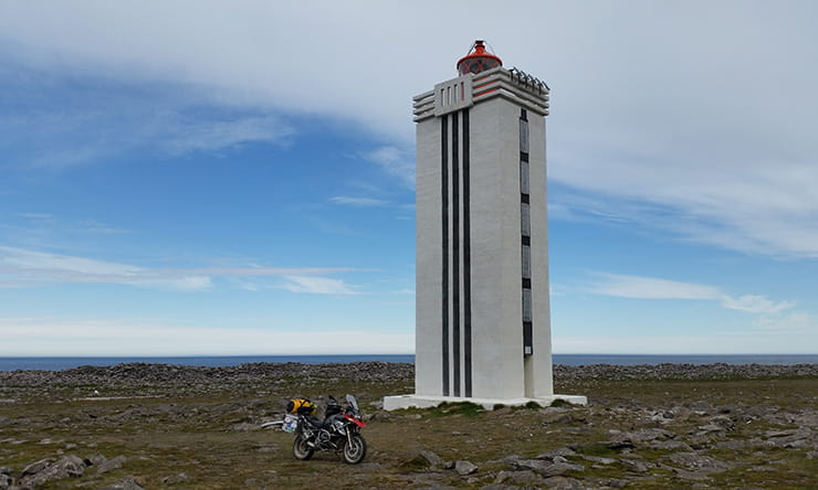 The lighthouse at the very top