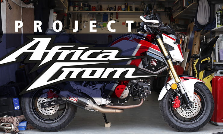 Project Africa Grom: Painting the MSX125