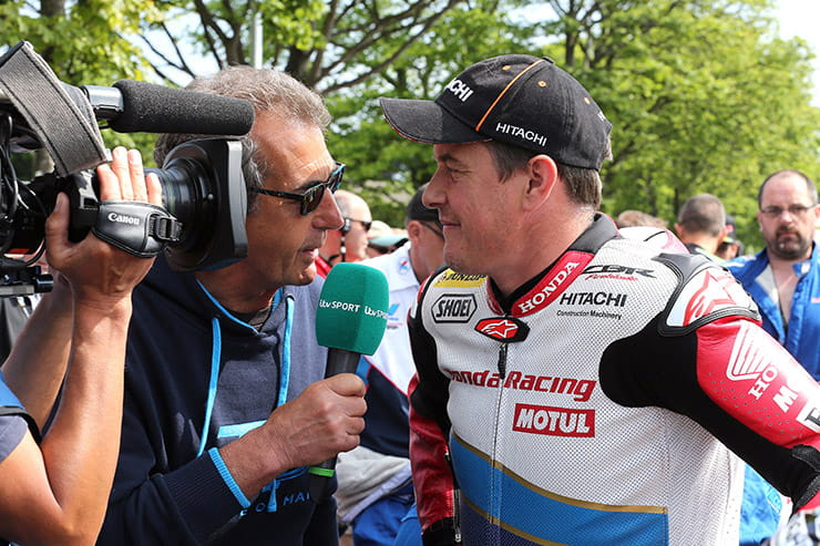 Amy Williams joins Steve Parrish and Steve Plater for Isle of Man Classic TT TV coverage