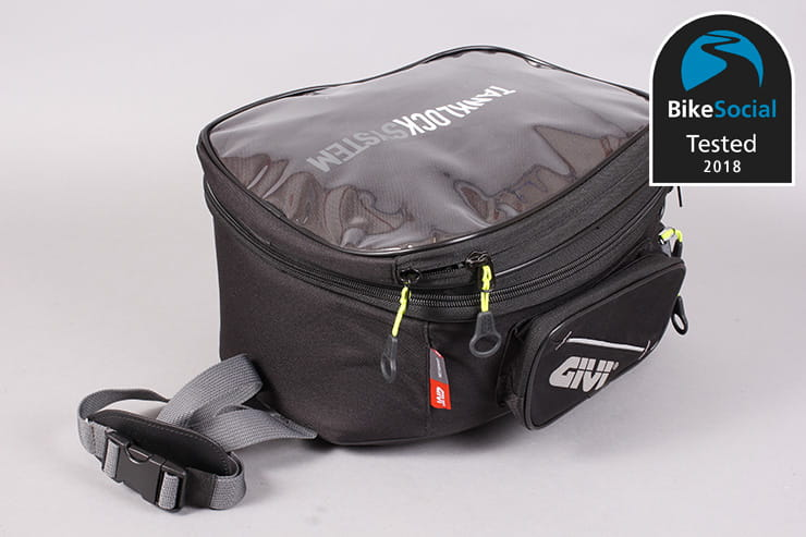 Tested: Givi Tanklock EA118 motorcycle tank bag review