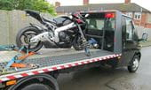 A motorcycle getting recovered