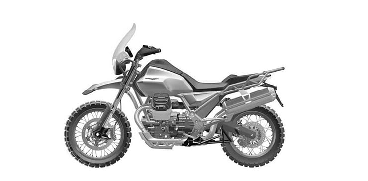 Guzzi V85 production bike revealed in patents