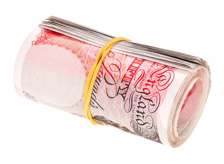 Roll of money fifty pound