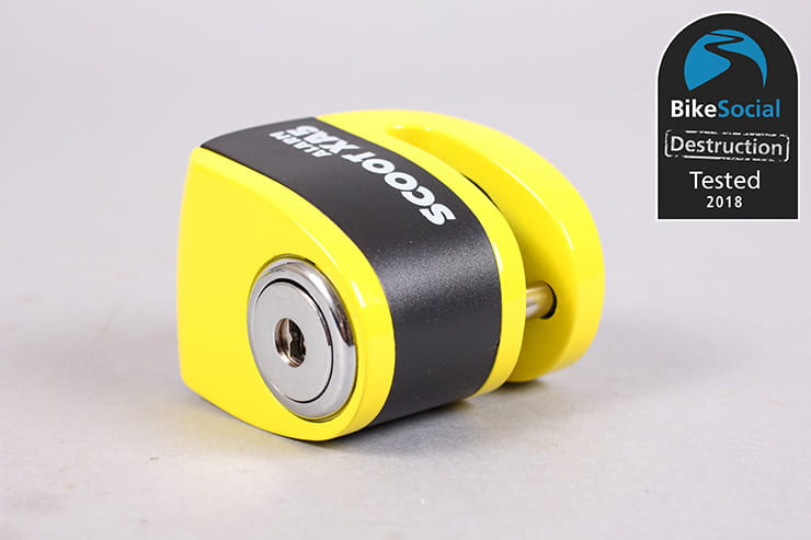 Oxford Scoot XA5 alarmed disc lock review