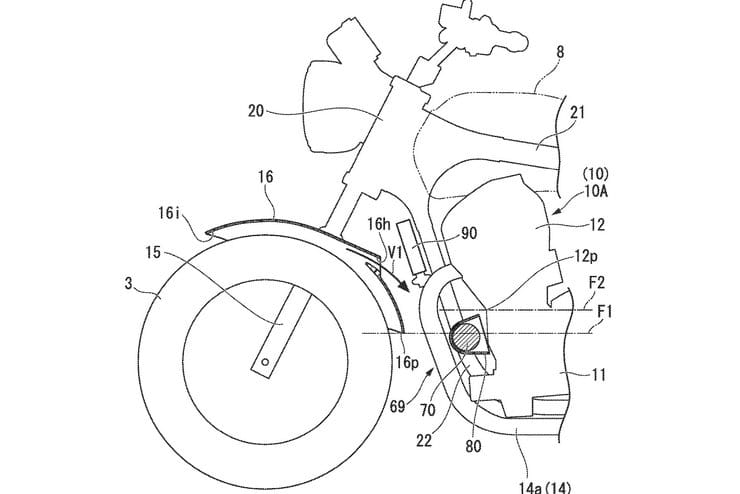 Honda CB1100 patent drawing