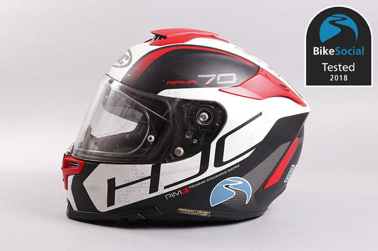HJC Helmets Open Face HJC FG-70s Motorbike Rider Touring Integrated Visor Motorcycle Helmet Classic Plain Matt Black