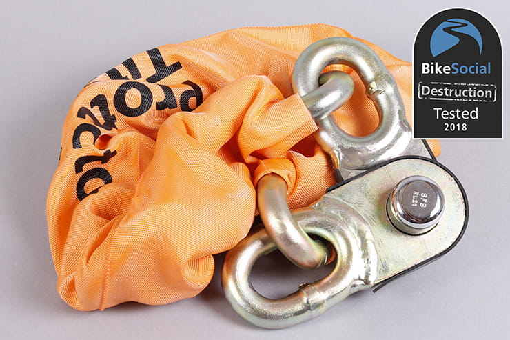 Pragmasis Protector 22mm High Security Sold Secure Diamond Motorbike Chain
