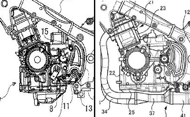 New Hayabusa frame and engine in Suzuki's latest Japanese patent application