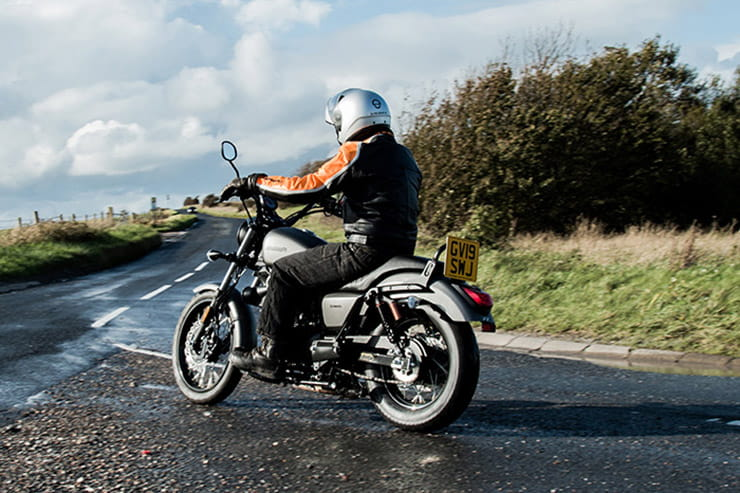 Like a mini-Harley Sportster, this £2200 125cc cruiser has plenty of attitude