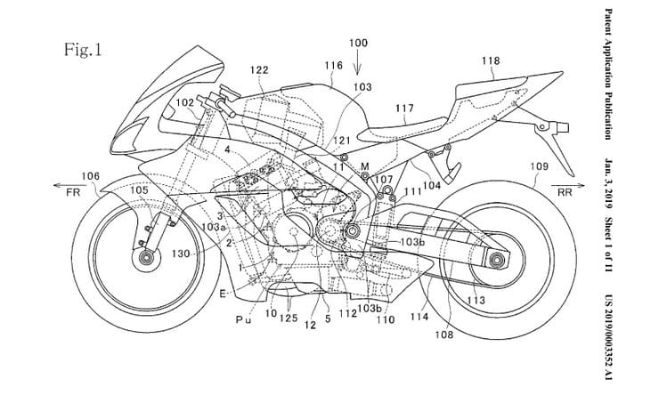 Honda patent application shows VTEC superbike