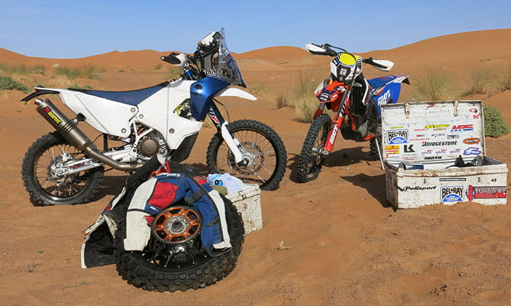 Extreme adventure biking 2019. Packing for the Dakar